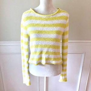 Free People Sweaters - FREE PEOPLE BEACH Yellow & White Stripe Sweater S